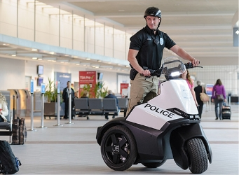 Security officer on S3 Patroller in airport