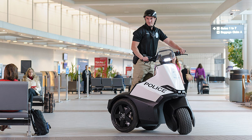 Airport Security patrolling on S3 patroller