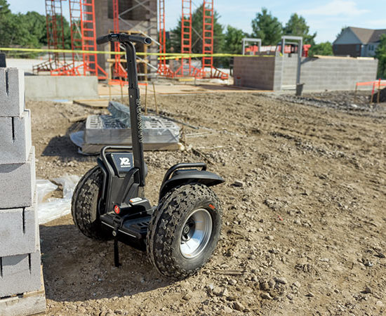 x2 Segway in construction area
